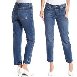 We The Free Slim Boyfriend Cropped Raw Hem Jeans